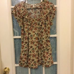 Dress Barn floral print top  1X